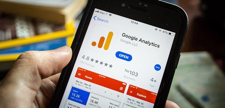 google analitycs firebase web app - roiting